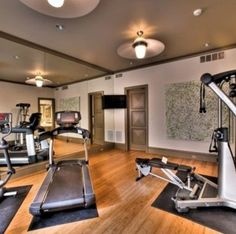 Home Gym Equipment With Wood Elements