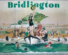 Bridlington UK travel poster