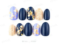 #nail art #nails #pretty&simple Maybe navy blue and rose gold