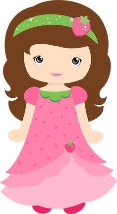 lisa está com o vestido e a tiara da moranguinho....as duas estão lindassssssssssssssssssssssss