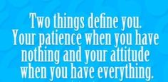 Quote of the Day on Tenacity, Integrity & Patience