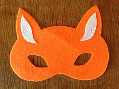 No sew felt fox mask tutorial, fox mask components, fox mask ...