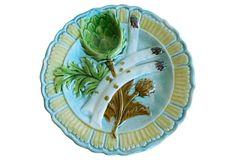 Late-19th-C. Majolica   Wall Plate on OneKingsLane.com