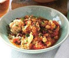 Cauliflower and Chickpea Curry Recipe  at Epicurious.com