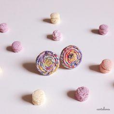 """""""LolliPop-Mini"""", orecchini in carta filata e cartoncino : Orecchini di cartalana"""