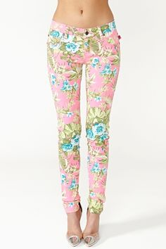 Hot Tropic Skinny Jeans-on the right day, these would be lovely with a loose singlet n strappy gold flats