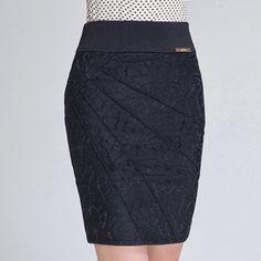 Outono mulheres Designer de moda Formal de cintura alta saia lápis, Saias de outono estiramento Plus Size 6XL 7XL