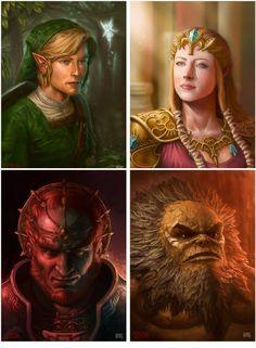 Realistic Zelda Portraits