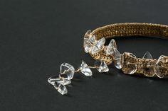 Golden Crocheted Choker Necklace