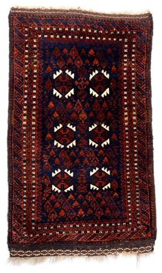 Culture Baluchi people Creation date about 1880 Collection Textiles Materials wool Dimensions 22 x 35 in. | 55.9 x 88.9 cm.