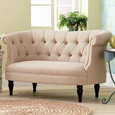 cute as a button loveseat with colorful contrasting buttons
