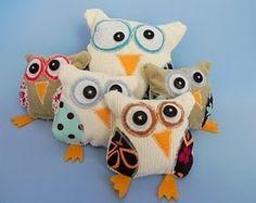 kooky stuffed owl project.