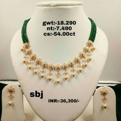 Gorgeous gold light weight necklace with south sea pearl hangings. For details contact Praveen Kumar at 9000303030 . Gold Jhumka Earrings, Jewelry Design Earrings, Gold Earrings Designs, Gold Choker Necklace, Gold Jewellery Design, Necklace Designs, Beaded Jewelry, Gold Necklace Simple, Gold Jewelry Simple