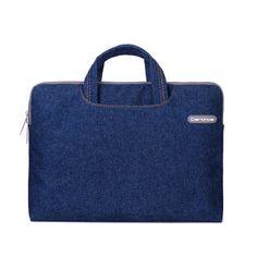 Cartinoe Classic Jeans Denim Fabric Laptop MacBook Pro Air Case Briefcase Bag