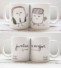 by Mr Wonderful Diy Becher, Diy Mugs, Mr Wonderful, Cute Mugs, Ceramic Painting, Mug Designs, Creative Gifts, Boyfriend Gifts, Diy Gifts