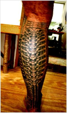 Bio-mechanical Tattoo designs: The Amazing Biomechanical Tattoo Design And Meaning For Men On Calf ~ tattooeve.com Tattoo Design Inspiration