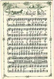 Jingle bells op papier om mee te knuselen.