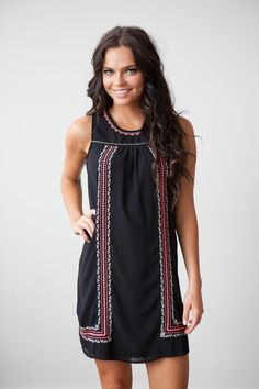 Magnolia Boutique Indianapolis - Embroidered Babydoll Dress - Black, $39.00 (http://www.indiefashionboutique.com/embroidered-babydoll-dress-black/)