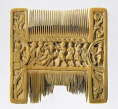 ~ Double-Sided Ivory Liturgical Comb with Scenes of Henry II and Thomas Becket. Place of origin: Canterbury, England (possibly) Culture: British Medium: Ivory European History, Ancient History, Art History, Medieval World, Medieval Art, High Middle Ages, The Cloisters, Historical Artifacts, Metropolitan Museum