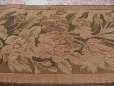 SUPERB VINTAGE FRENCH WOVEN TAPESTRY BORDER / EDGING -2.5m