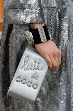 Chocolate milk carton at Chanel Fall 2014 - Best Runway Bags Paris Fashion Week Bags #PFW