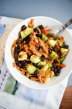 Simple stovetop jackfruit carnitas recipe that won't have anyone missing the real thing. Vegan and gluten-free, full of smoky, savory flavor.