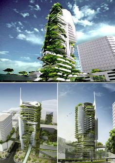 """Currently pending construction in Singapore, the EDITT Tower will be a paragon of """"Ecological Design In The Tropics"""". Designed by TR Hamzah & Yeang and sponsored by the National University of Singapore, the 26-story high-rise will boast photovoltaic panels, natural ventilation, and a biogas generation plant all wrapped within an insulating living wall that covers half of its surface area. The verdant skyscraper was designed to increase its location's bio-diversity and rehabilitate the local…"""