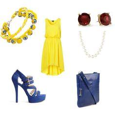 """Yellow & Royal Blue"""