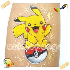 Pikachu - Pokemon - face paiting pintura facial
