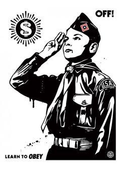 #shepardfairey #obey #sergeantpaper #artstore Off! 2014 #Serigraphie sur papier Edition limitee a 450ex 46x61cm - numerotee et signee