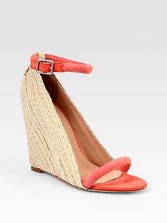 Diane von Furstenberg - Suede Espadrille Wedge Sandals - Saks.com  Espadrille Wedge 9f708dc2156e