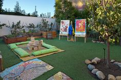 Garden Activity Area at Branches Atelier in Santa Monica, CA (formerly Blueberry Atelier)