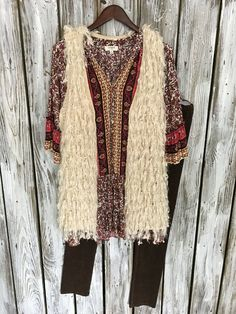 Find this Shaggy Beige Vest (Tunic & Leggings) at  Hadarah Boutique ~!🛍