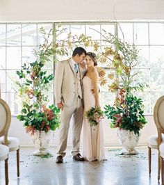 bring the outdoors inside with this greenery shoot shot by Ben Q. Photography