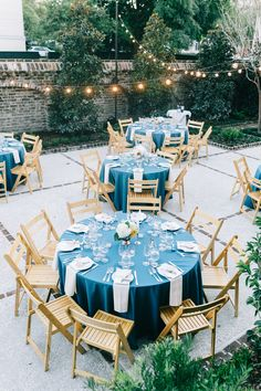 outside seated dinner on terrace w/ cafe lighting | photo by catherine ann photography | gadsden house | king street hospitality group