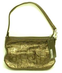 9a3b3d8e23 Kenneth Cole Reaction Stamp of Approval Top Zip Wristlet Bronze