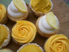 Yellow Cupcakes...super cute!