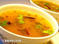 Rasam is a traditional South Indian soup usually made by using tamarind pulp, tomato ,asafoetida powder and spices like cumin seeds, fenugreek seeds and pepper. Usually it is served along with steamed rice. Rasam is one of the inevitable dish in the south indian cuisine especially in kerala's Onam sadya