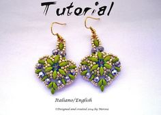 *P Earrings Mon Amour (photo Tutorial in Italian and english)
