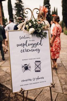 Five Signs You Need For Your Wedding Day For Your Wedding Guests : Unplugged Ceremony Sign For Wedding // Image By Samuel Docker Photography Wedding Reception Places, Wedding Ceremony Signs, Wedding Guest Book, Wedding Table, Plan Your Wedding, Wedding Tips, Diy Wedding, Wedding Events, Wedding Day