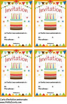 carte invitation anniversaire gratuite à imprimer 9 ans | carte invitation anniversaire ...