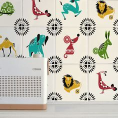 """Mibo Tile Tattoos """"Hate your bathroom tile, but not ready to shell out a ton of cash to replace it ? Try Mibo Tile Tattoos for a change. Rental Decorating, Decorating Tips, Rental Kitchen, Mosaic Animals, Tile Decals, Wall Decal, Cover Tattoo, Preschool Crafts, Diy Projects"""