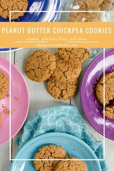 PBC Cookies! Vegan Peanut Butter CHICKPEA Cookies plantpoweredkitchen.com