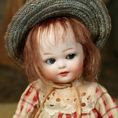 Heubach Googly, uncommonly found, sold by Signature Dolls.