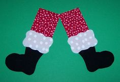 Fabric Applique TEMPLATE ONLY Santa Legs and by etsykim on Etsy