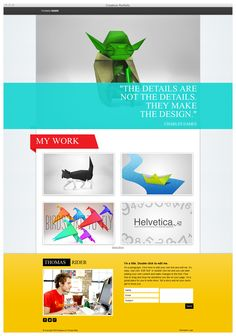 A ready to go HTML5 one-pager HTML5 online portfolio. Great choice for designers, artisits and creative professionals