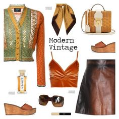 """""""Modern Vintage"""" by sproetje ❤ liked on Polyvore featuring Jean-Paul Gaultier, Michael Kors, Tory Burch, Miu Miu, Mark Cross, Gucci, Yves Saint Laurent, Boohoo, Carven and modern"""