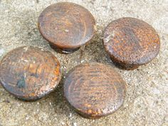 Drawer Pulls / Handles / Brown / Pine by assemblage333 on Etsy, $12.00