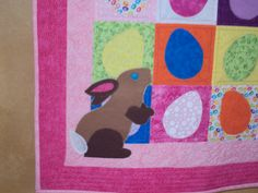 Easter Sudoku Quilt with applique Bunny. My very own pattern!!