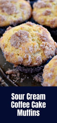 Sour Cream Coffee Cake Muffins dessert recipes, dessert recipes easy, dessert recipes healthy, dessert recipes gluten-free, dessert recipes low carb, dessert recipes best, dessert recipes for Christmas, dessert recipes vegan, dessert recipes apple, dessert recipes diabetics #dessertrecipes #dessertrecipeseasy #dessertrecipeshealthy #dessertrecipesglutenfree #dessertrecipeslowcarb Muffin Recipes, Cookie Recipes, Dessert Recipes, Baking Muffins, Bread Baking, Delicious Desserts, Yummy Food, Jalapeno Cheese, Coffee Cake Muffins